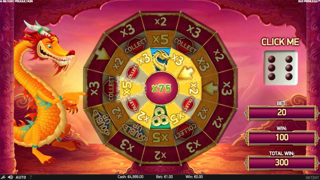 koi-princess-bonus wheel